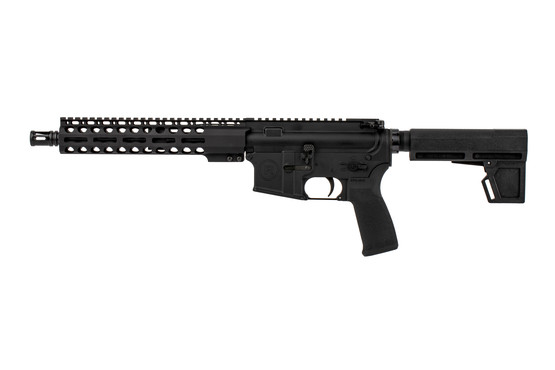 The Radical Firearms 300 Blackout pistol comes with an MFT ergonomic pistol grip