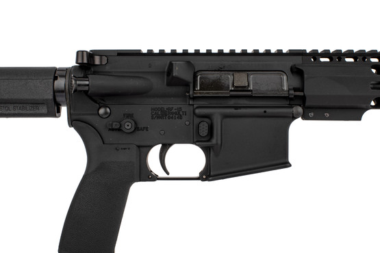 "Radical Firearms 10.5"" AR 15 pistol with PA exclusive M-LOK rail and Shockwave 2M brace has MFT pistol grip and ambi safety selector"