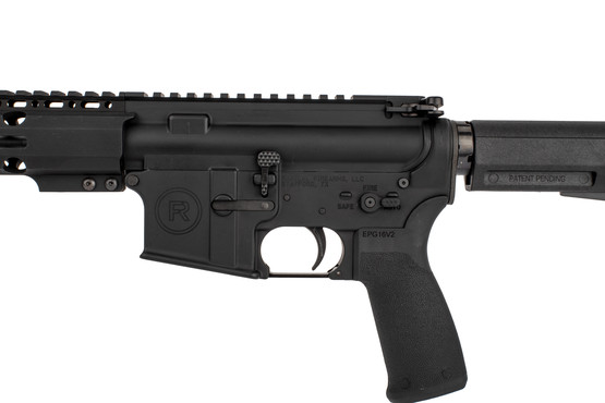 "Radical Firearms 10.5"" M4 barreled AR pistol with PA exclusive M-LOK rail Shockwave 2M brace, and enhanced bolt catch"