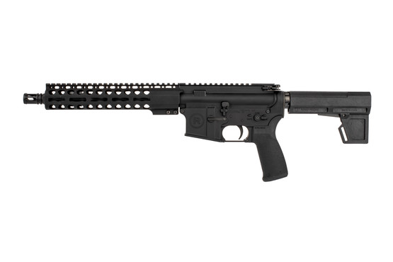 "Radical Firearms 10.5"" AR pistol with Primary Arms Exclusive M-LOK rail and Shoackwave 2M brace has a carbine gas system."