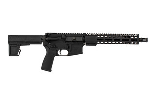 The Radical Firearms 7.62x39 AR Pistol with 10.5 inch barrel features a Primary Arms exclusive handguard and Shockwave Blade