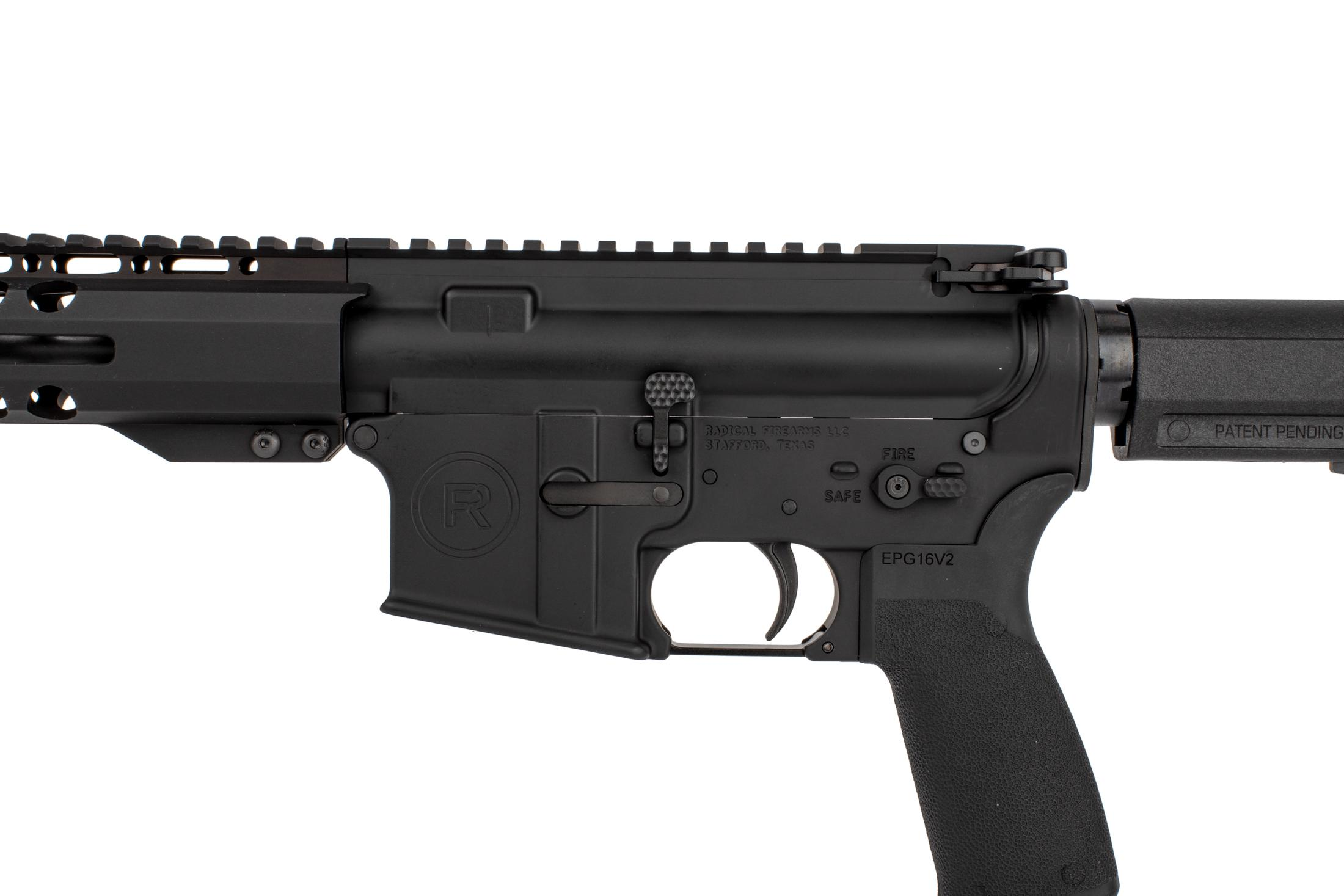 Radical Firearms 7.5 M4 barreled AR pistol with PA exclusive M-LOK rail Shockwave 2M brace, and enhanced bolt catch