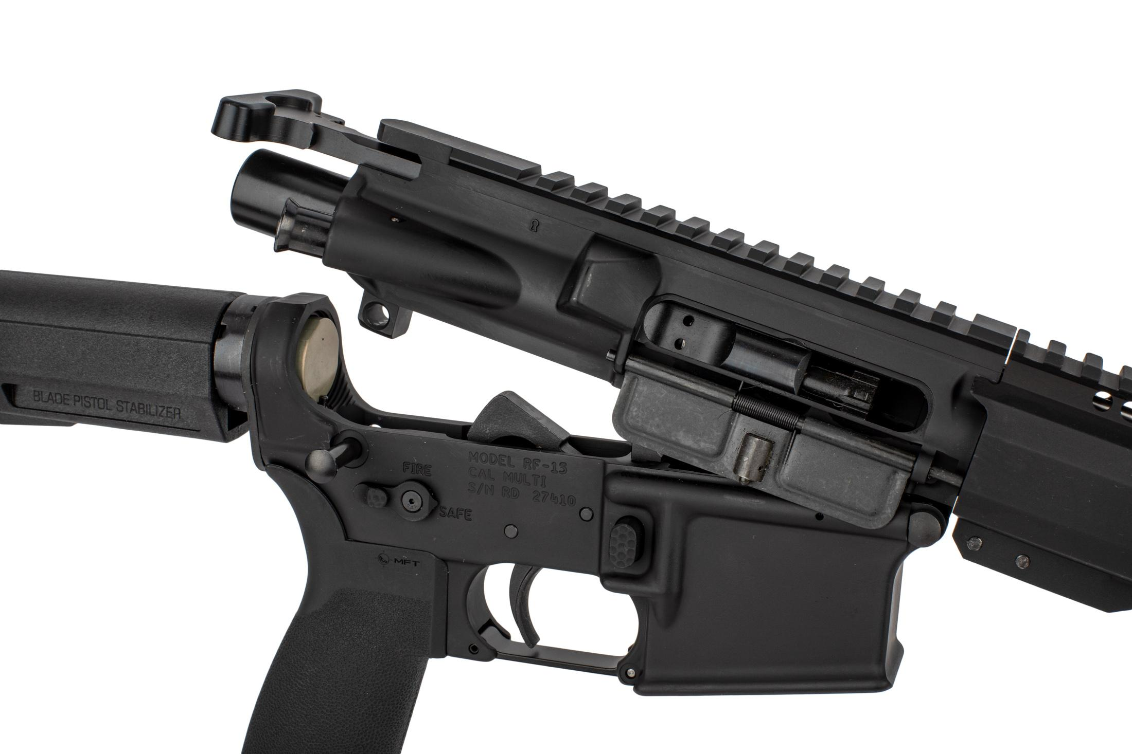 Radical Firearms 5.56 NATO AR-15 pistol with 7.5 barrel and Shockwave Brace has an M16 cut BCG and standard charging handle