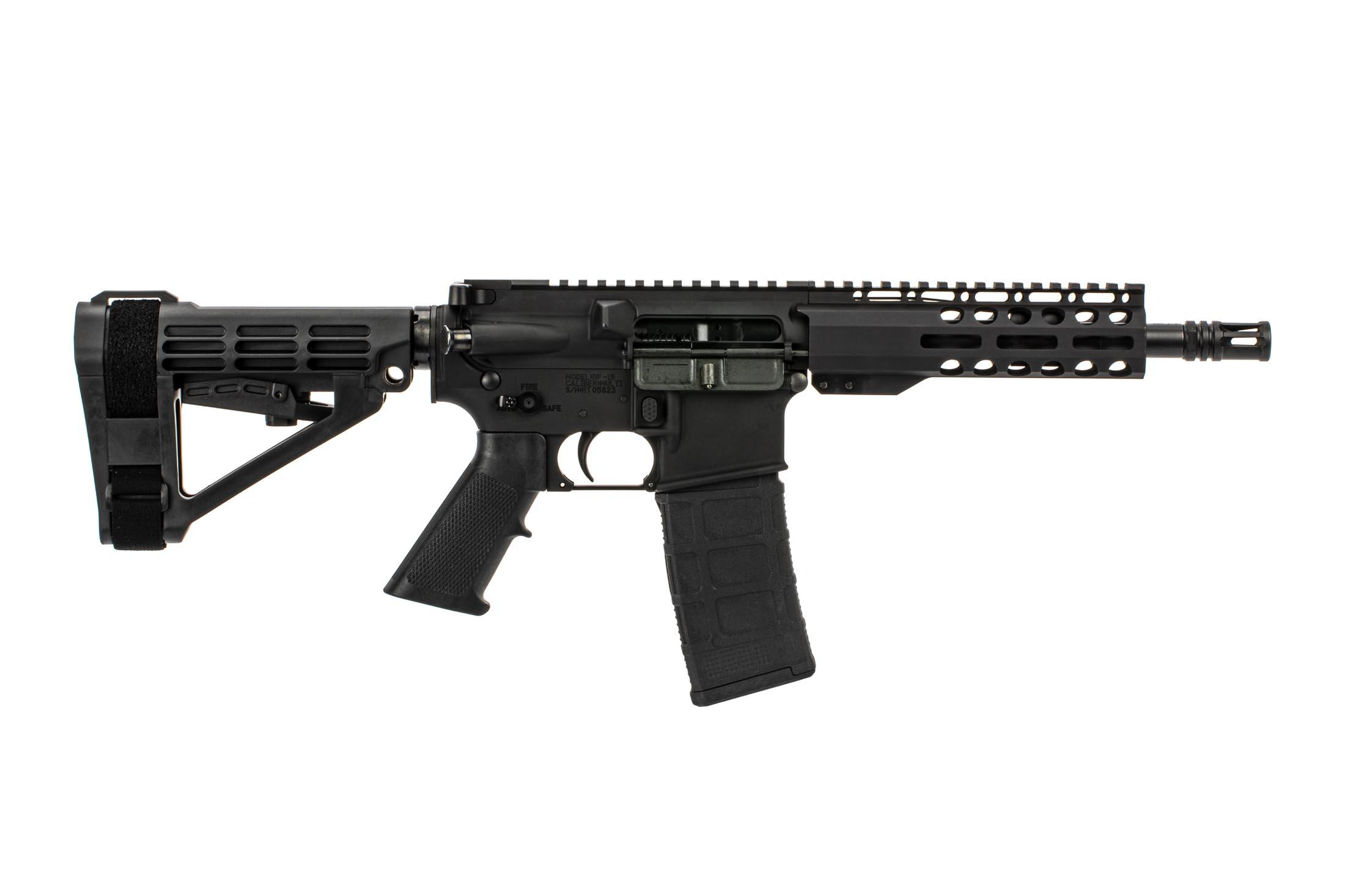 The Radical Firearms .300 Blackout AR15 pistol features the Primary Arms Exclusive M-LOK handguard