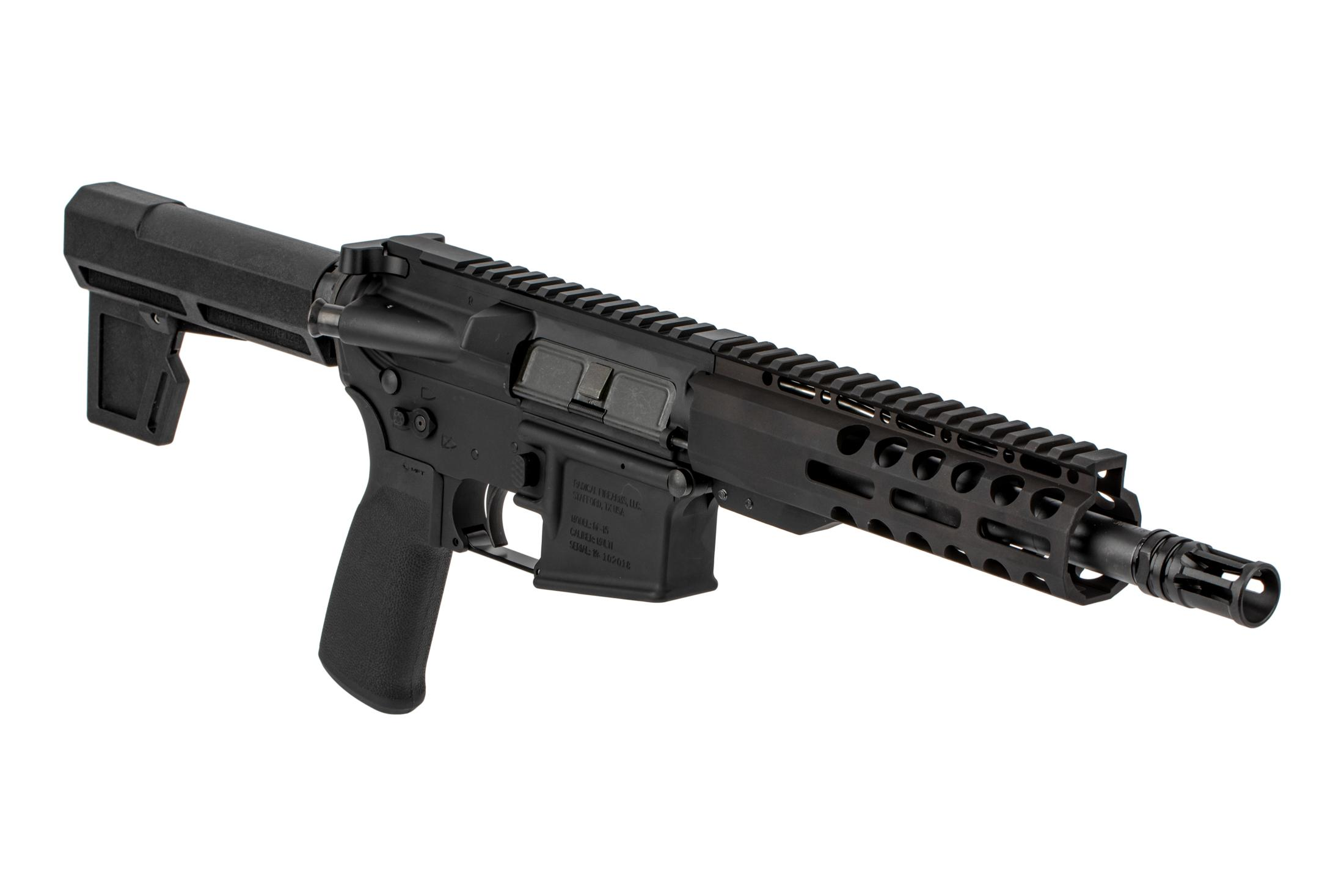 The Radical Firearms .300 BLK AR Pistol comes with the Shockwave Technologies 2M Blade stabilizer