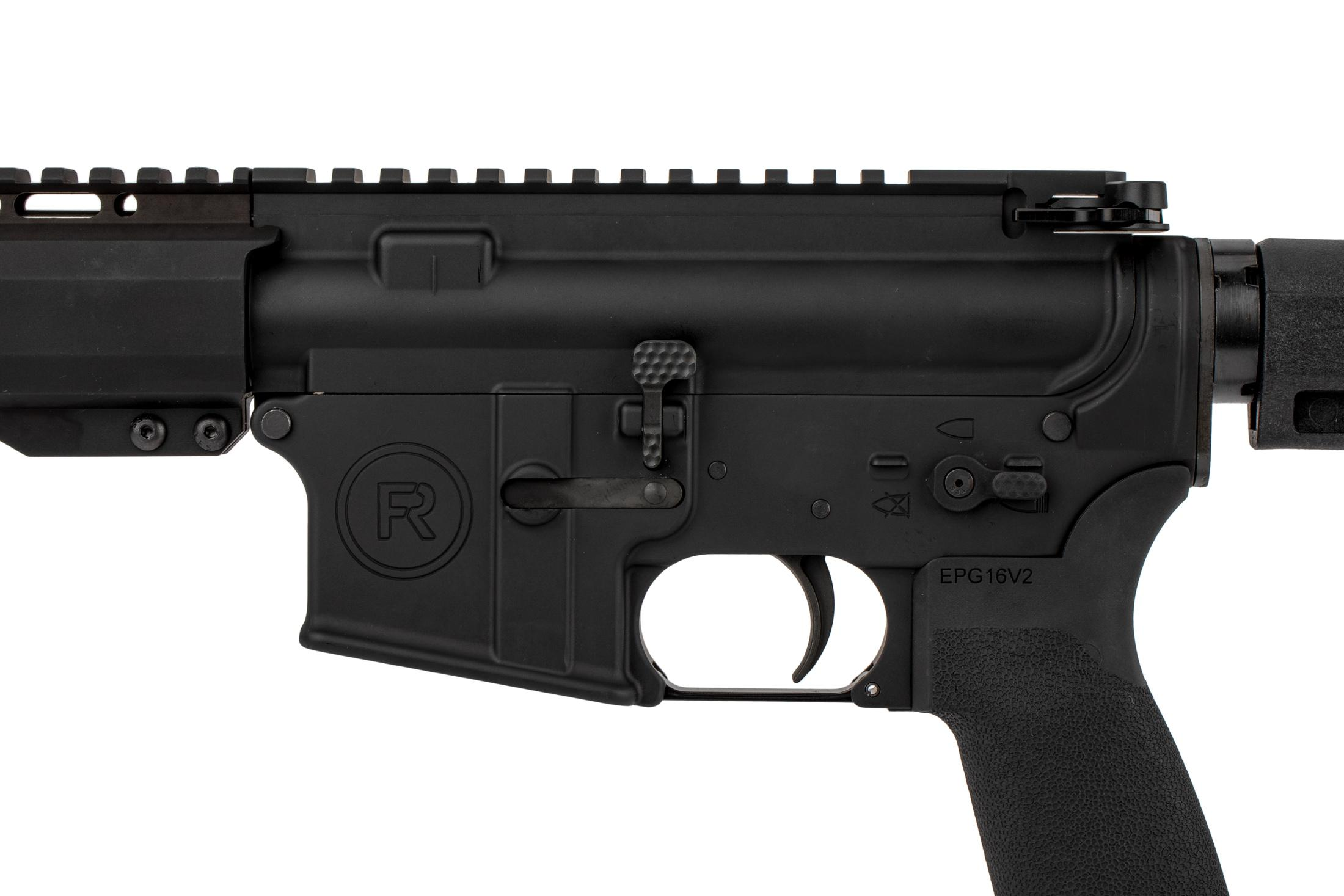 The Radical Firearms .300 BLK Pistol features an extended bolt release