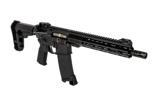 Sionics Patrol three pistol features an 11.5 inch barrel and sba3 arm brace