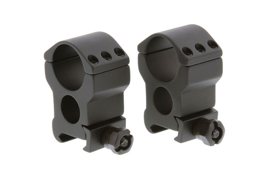 The Primary Arms 1 inch extra high tactical scope rings are constructed from aluminum with black anodized finish