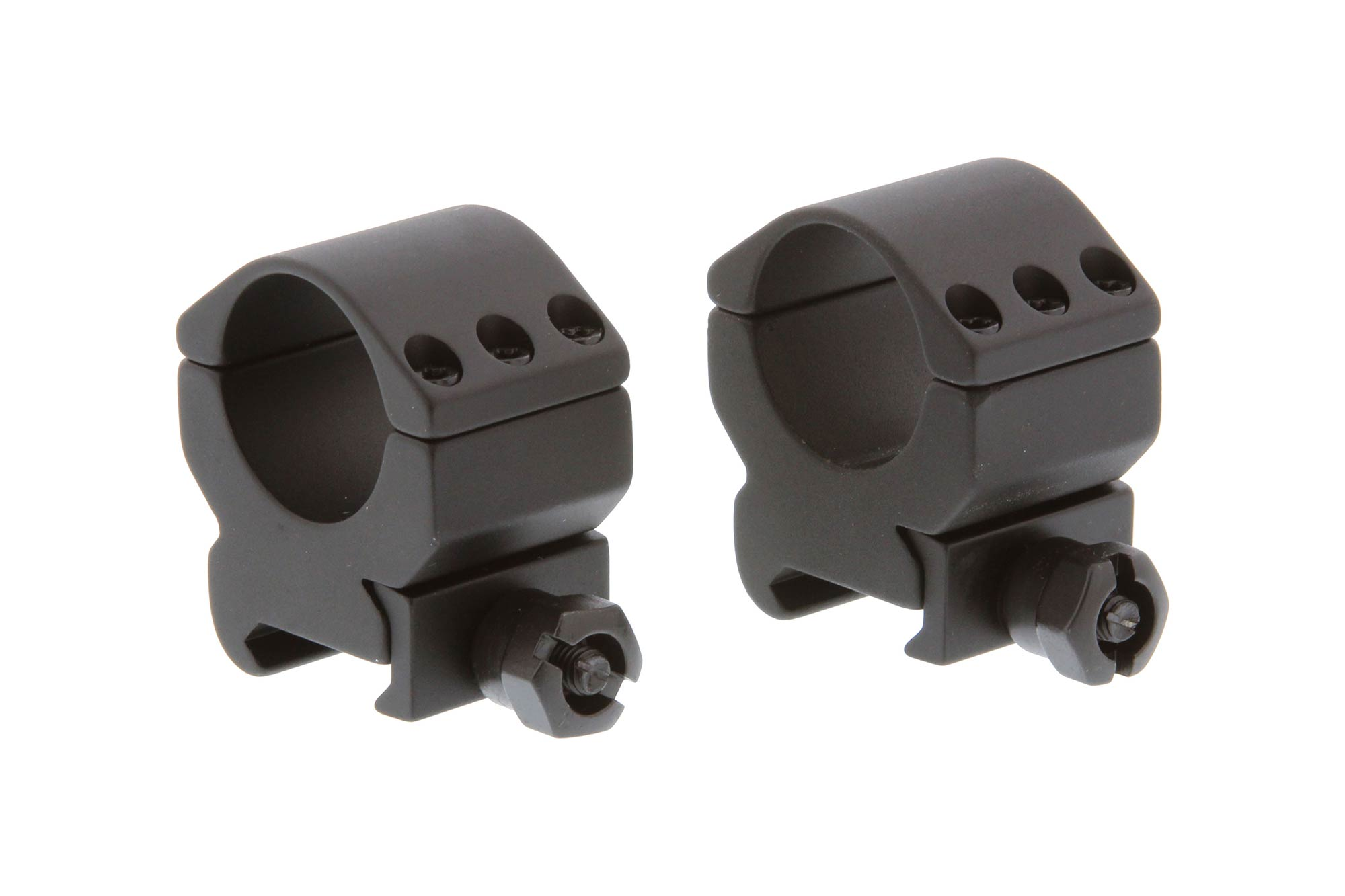 The Primary Arms Medium height 1 inch tactical scope rings are machined from aluminum