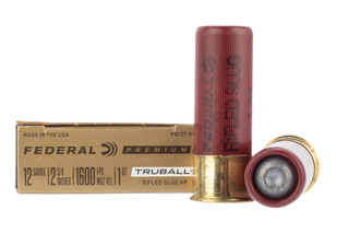Federal 12 gauge truball rifled hollow point slug comes in a box of 5