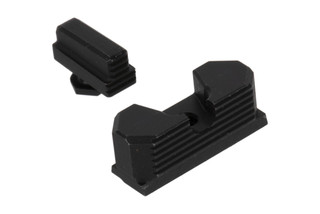 Continuous Precision GLOCK Carry Sights combo sight set machined from 4140 chrome moly steel with black oxide finish.