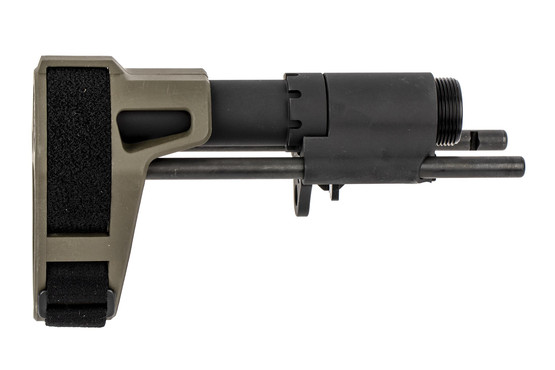 The SB Tactical OD Green SBPDW pistol arm brace features a QD sling attachment