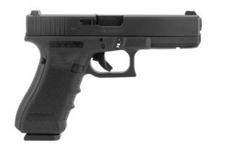 Glock 17 gen 4 9mm pistol features night sights
