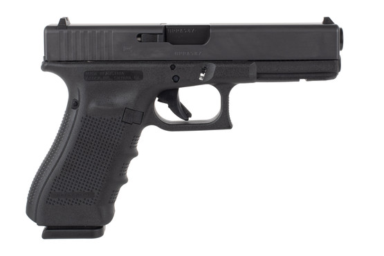 Glock 31 Gen 4 357 SIG pistol features a black slide