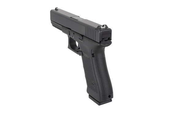 Glock 31 pistol features plastic sights