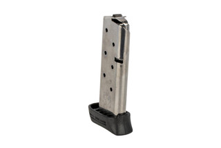 The Springfield Armory 911 7 round magazine .380 ACP features a polymer finger extension