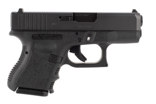 Glock 26 sub compact pistol is chambered in 9mm