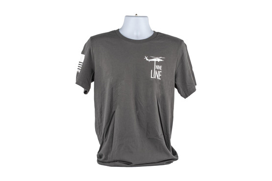 The Pledge shirt design by Nine Line Apparel comes in grey and extra large size
