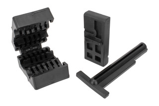ProMag Vise Block Set includes upper and lower receiver vice blocks made from high strength polymer