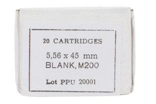 PPU 5.56 NATO Blank Ammo comes in a box of 20