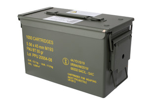 PPU 556 ammunition FMJ comes in a case of 1000 rounds