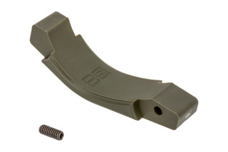 The B5 Systems OD Green Polymer AR15 trigger guard is also compatible with AR10 lowers