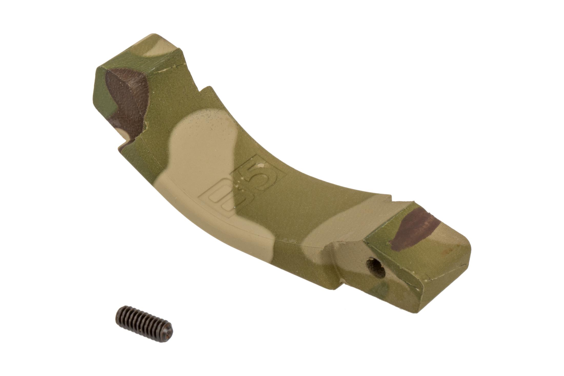 The B5 System Multicam Polymer Trigger Guard is compatible with AR15 and AR10 lowers