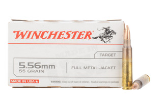 winchester white box 556 nato ammo features a 55gr full metal jacket bullet