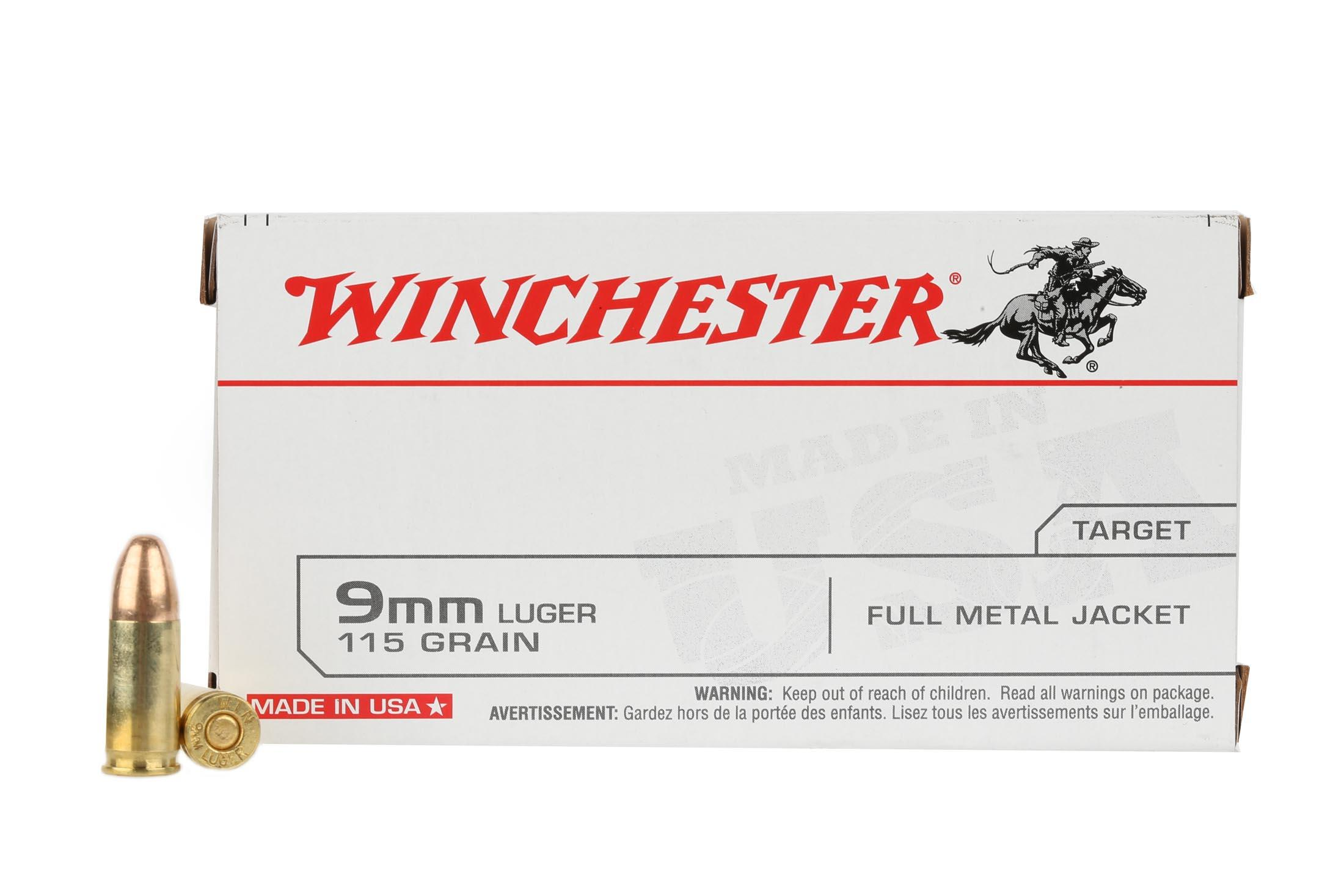 Winchester Target 9mm Luger 115 gr FMJ - Box of 50