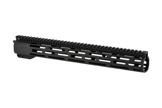 "Radical Firearms 3rd generation free float FCR M-LOK handguard for the AR-15 is 15"" long to cover mid-length gas systems"