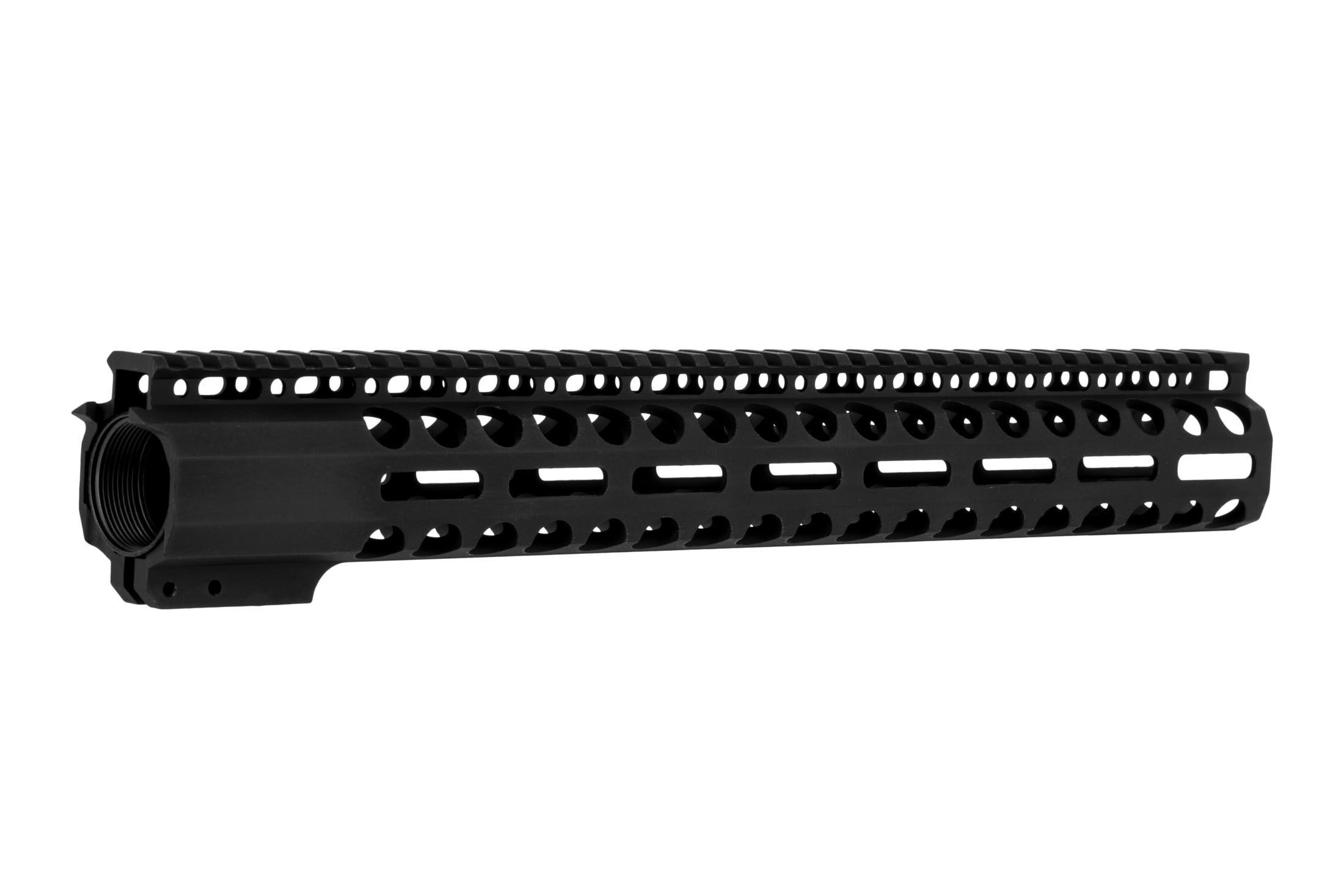 Radical Firearms 15 in Primary Arms Exclusive M-LOK rail with 3rd gen mounting system with anti-rotation tabs and a 4140 steel barrel nut