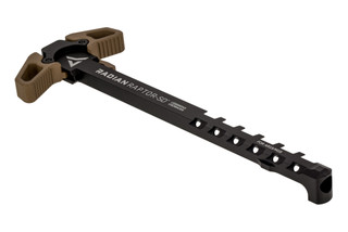 Radian Raptor SD Ambidextrous AR15 charging handle features flat dark earth anodized latches