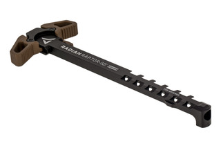 Radian Raptor SD Vented Ambidextrous AR15 charging handle features brown anodized latches