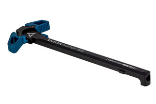 Radian Weapons Raptor Ambi Charging handle features large blue anodized latches