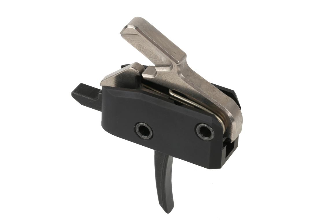 The Rise Armament High Performance ar-15 ar-10 Single Stage Trigger has a flat trigger bow