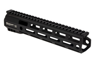 Rise Armament Lightweight AR15 handguard 10 inch features a scalloped picatinny top rail