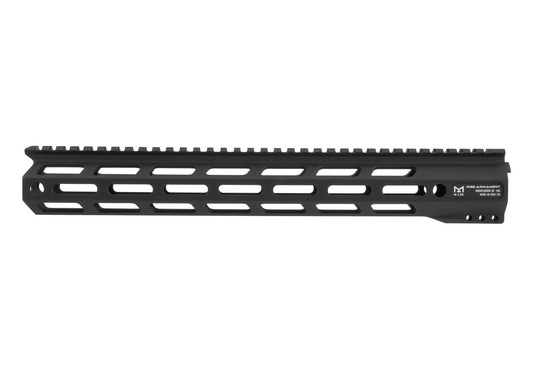 Rise Armament M-LOK handguard 13 features a black anodized finish and QD sling slots