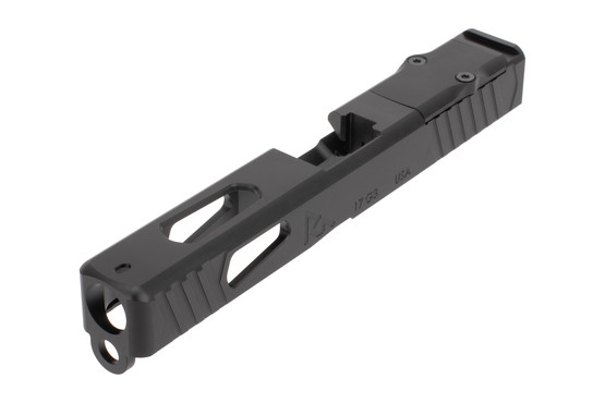 Rival Arms Precision Upgrade Slide A1 with RMR cut features front and rear slide serrations and lightening cuts.