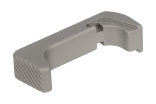 Rival Arms Glock Extended Magazine Release Gen4 features a raw aluminum finish