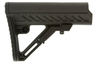 The Leapers UTG Pro Ops Ready S2 mil-spec AR15 stock is made from black polymer