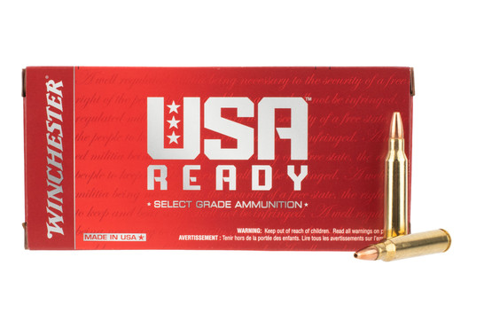 Winchester USA 223 rem ammo is loaded with an open tip bullet