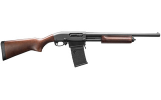 The Remington 18.5 inch 870 DM Hardwood is a Magazine Fed Pump Action 12 Gauge Shotgun with 3 inch Chamber and bead front sight
