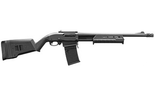 "The Remington 18.5"" 870 DM Magpul is a Magazine Fed Pump Action 12 Gauge Shotgun with 3 inch Chamber, Ghost Ring Sights, and breacher style ported bore choke"