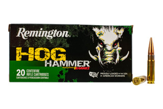 Remington Hog Hammer 300 BLK ammo features the TSX hollow point bullet