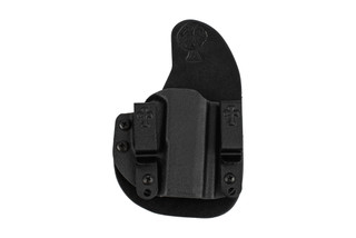 Crossbreed Glock 19 Reckoning Holster features molded Kydex and rawhide leather