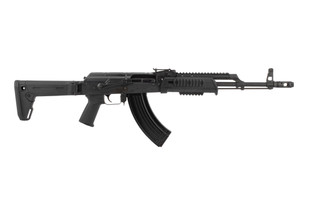 Century Arms WASR10 AK47 rifle features a folding Zhukov stock