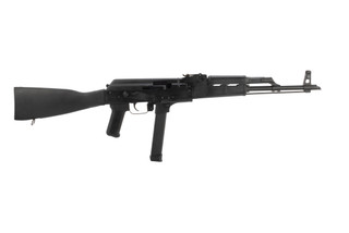 Century Arms WASR-M 9mm AK47 rifle features black polymer furniture