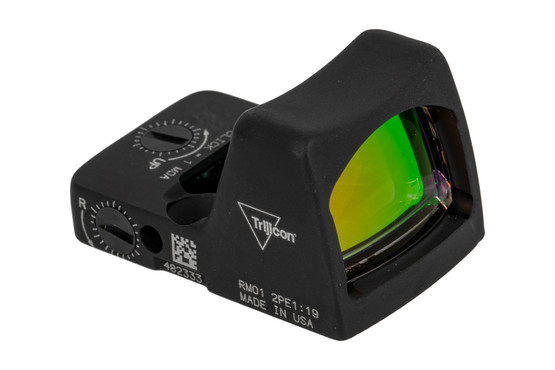 Trijicon RMR Type 2 Adjustable LED Reflex sight features a 3.25 MOA reticle and black anodized finish