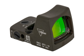 Trijicon RMR Type 2 Adjustable LED Reflex sight features a 3.25 MOA reticle and ODG cerakote finish