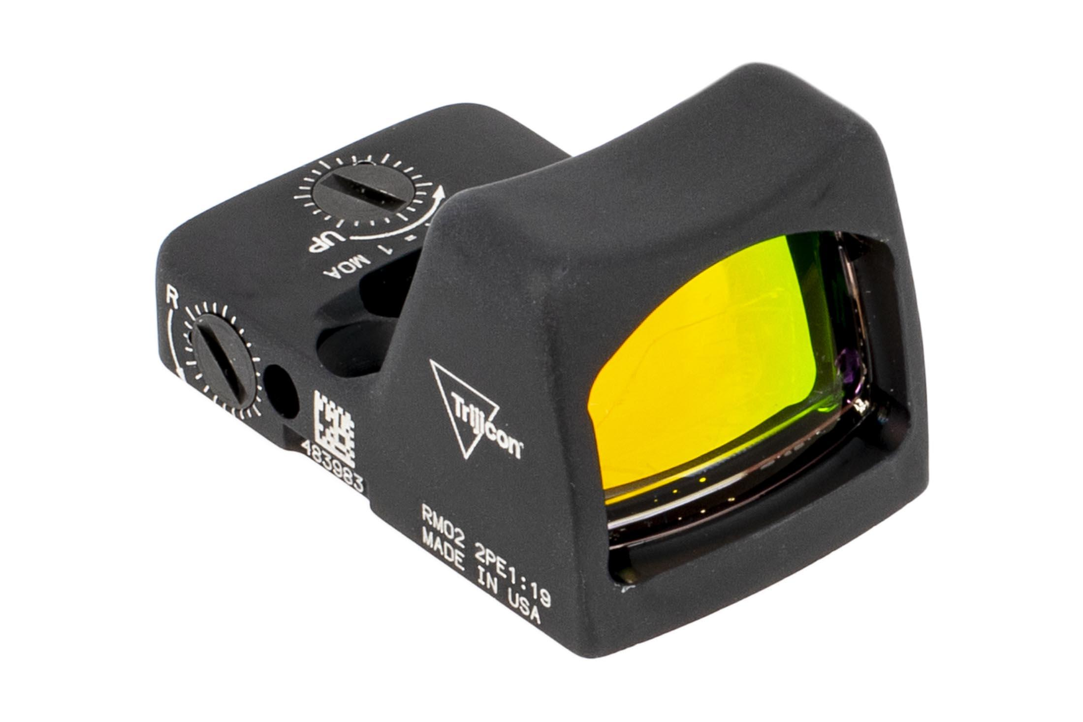 Trijicon RMR Type 2 Adjustable LED Reflex sight features a 6.5 MOA reticle and black anodized finish